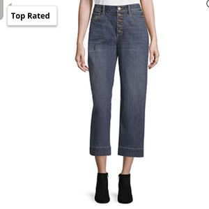a.n.a High Waisted Wide Leg Cropped Jeans